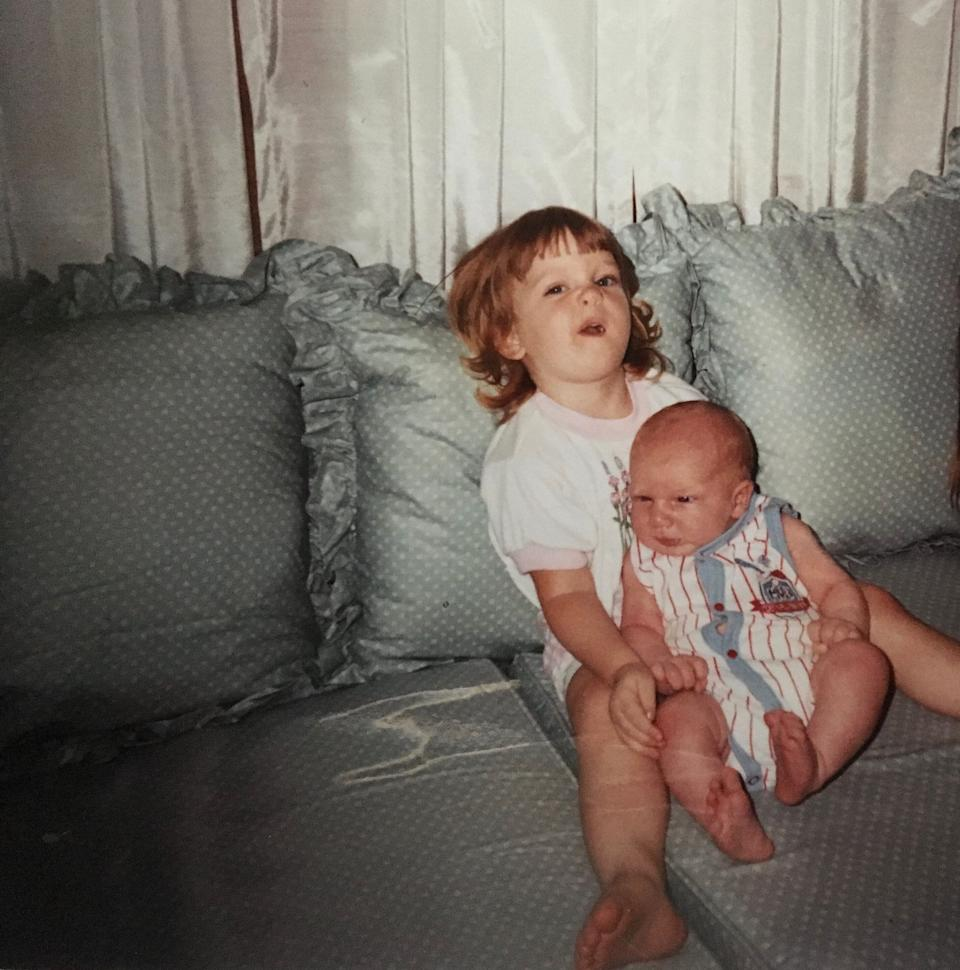 The author with her new baby brother in the late '80s (Photo: Courtesy of Jess Keefe)