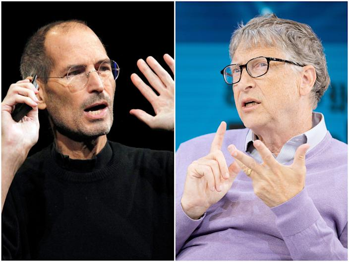 Steve Jobs, left, and Bill Gates.