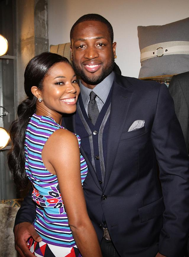 MIAMI, FL - DECEMBER 03: Gabrielle Union and Dwyane Wade attend 'Unlock' Art of Basketball Event during Graffiti Gone Global on December 3, 2011, 2011 in Miami, Florida. (Photo by Alexander Tamargo/Getty Images)