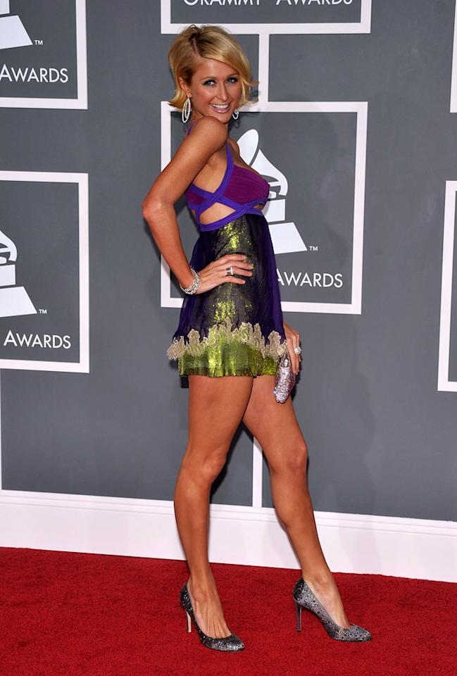 """<a href=""""/paris-hilton/contributor/61630"""">Paris Hilton</a> arrives at the 51st Annual Grammy Awards at the Staples Center on February 8, 2009, in Los Angeles."""