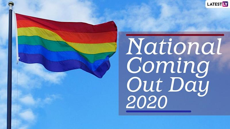 National Coming Out Day 2020 Quotes, Wishes and Messages: Send WhatsApp Stickers, Facebook Images and Greetings to Celebrate Coming Out as a Queer