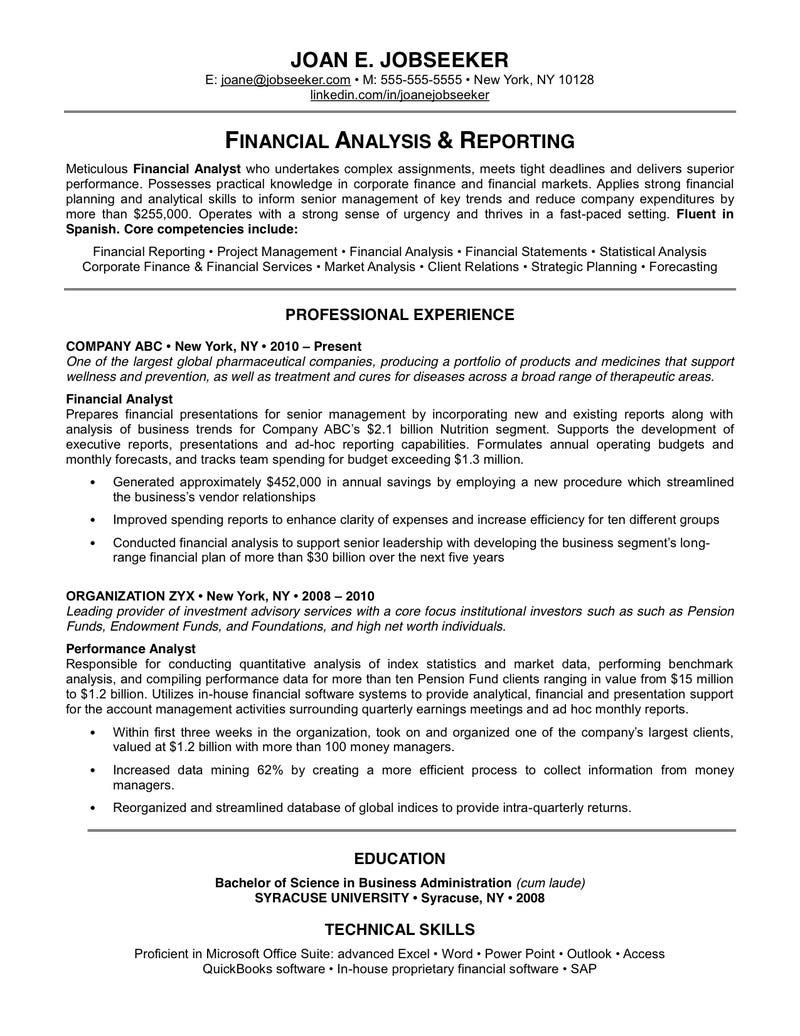 objective statement for finance resume