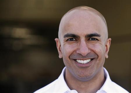 California Republican gubernatorial candidate Kashkari poses after touring the Robinson Helicopter Co. in Torrance