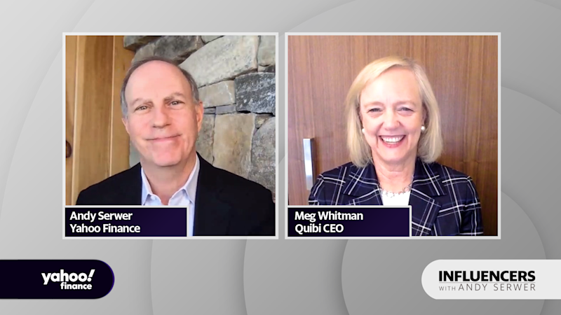 """Quibi CEO Meg Whitman appears on """"Influencers with Andy Serwer."""""""