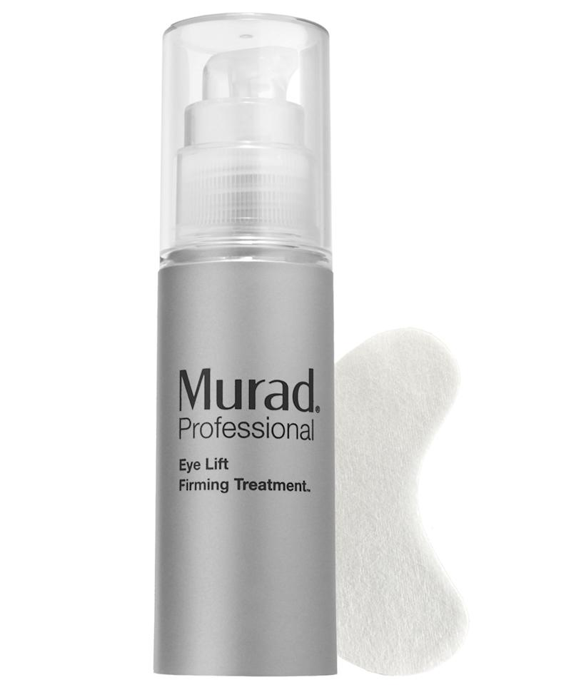 """<p>""""Murad Eye Lift Firming Treatment is one my go-to eye treatments when I have a model in my chair who just took a red eye flight and is getting ready for a full day of shooting ahead. I use moisturizing cream first, wait until it's fully absorbed, then I pull this magic cream and leave it on until I am done with makeup to get that wide awake de-puff look,"""" says makeup artist <a rel=""""nofollow"""" href=""""http://honey-artists.com/div/makeup/artists/azra-red/p/1201/c/-1/"""">Azra Red.</a></p> <p>$68 