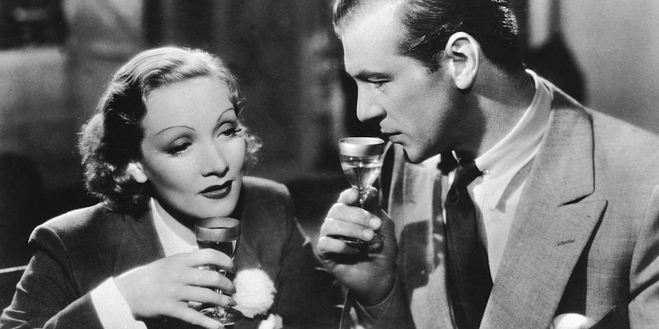 "<p>Old Hollywood icons Marlene Dietrich and Gary Cooper lock lips for the better part of this 1936 Frank Borzage rom-com set in Spain. It follows a French jewel thief and the American holding onto her pearls, and, we have to say, it doesn't get much more romantic than those long, golden-age kisses. <a class=""link rapid-noclick-resp"" href=""https://www.youtube.com/watch?v=ZeKjBHMSciM"" rel=""nofollow noopener"" target=""_blank"" data-ylk=""slk:Watch Now"">Watch Now</a></p>"