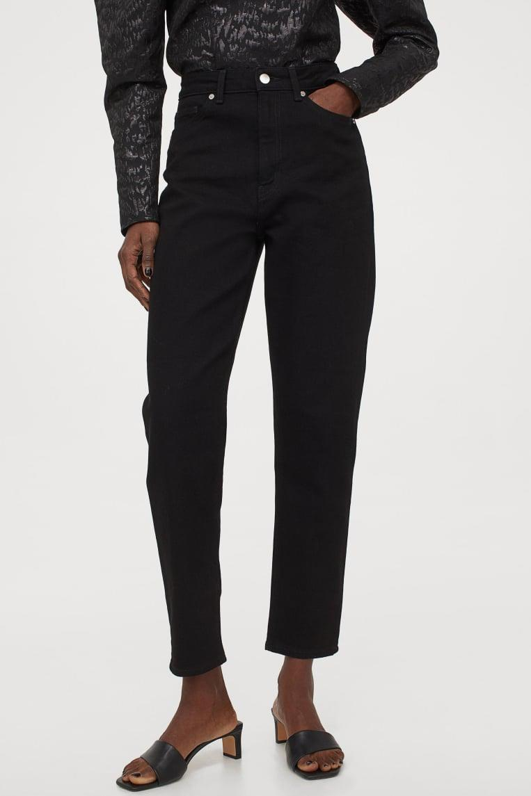 <p>These <span>H&amp;M Mom High Ankle Jeans</span> ($25) have a baggy feel to them that's stylish and comfy.</p>