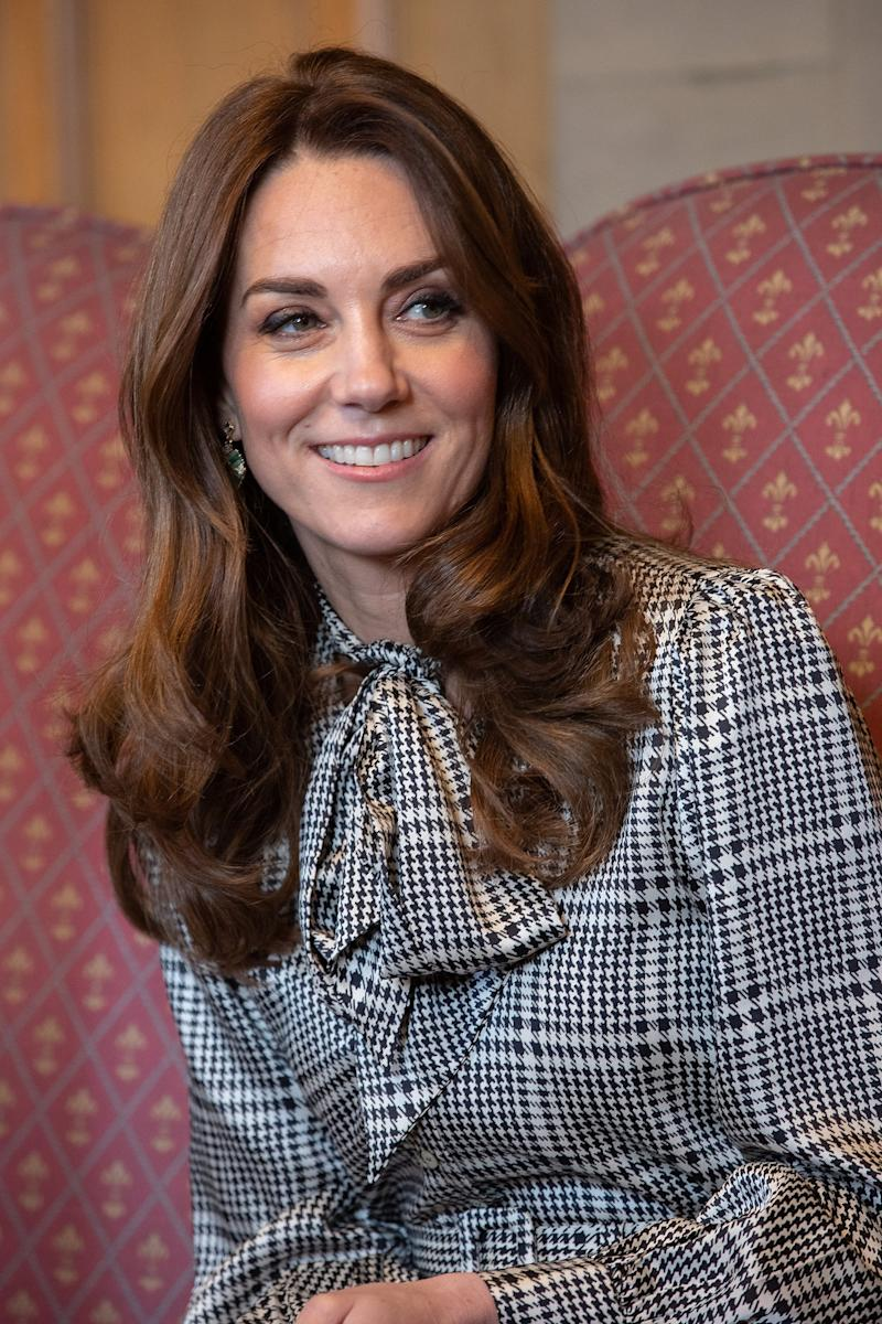 Kate Middleton wore a similar design for a royal engagement to Bradford in January (Getty Images)