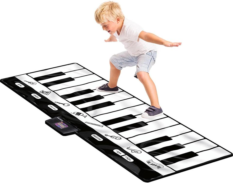 <p>No doubt a music-lover will have the tome of their life with the <span>Click N' Play Gigantic Keyboard Play Mat</span> ($36). The cool jumbo size mat stretches 70 inches, and will bring hours of fun.</p>
