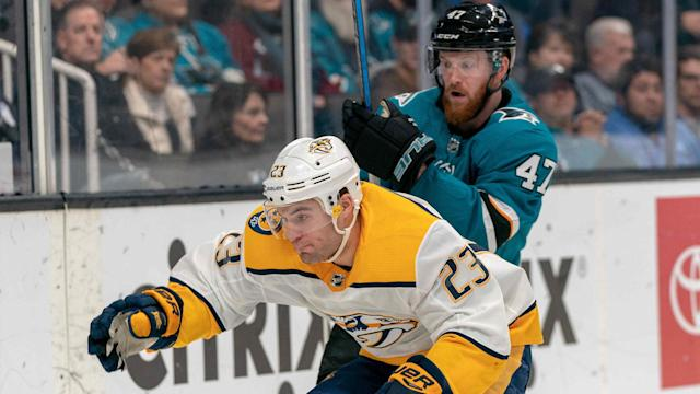 Here's how the Sharks are expected to line up on Saturday night when they host the Predators.