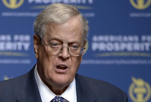 Americans for Prosperity Foundation Chairman and major GOP donor David Koch. (AP Photo/Phelan M. Ebenhack, File)
