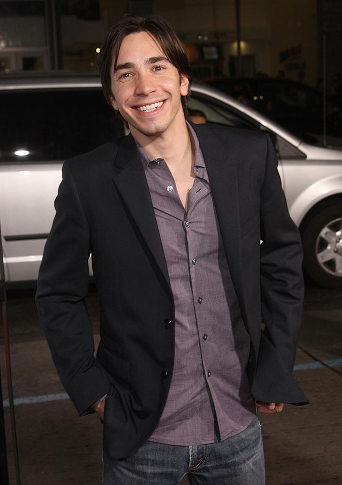 """<a href=""""http://movies.yahoo.com/movie/contributor/1804512153"""">Justin Long</a> at the Los Angeles premiere of <a href=""""http://movies.yahoo.com/movie/1809958867/info"""">Zack and Miri Make a Porno</a> - 10/20/2008"""