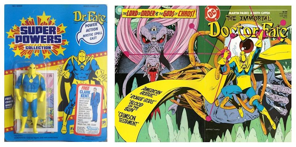 In the 1980s, Doctor Fate finally headlined his own comic, and got an action figure.