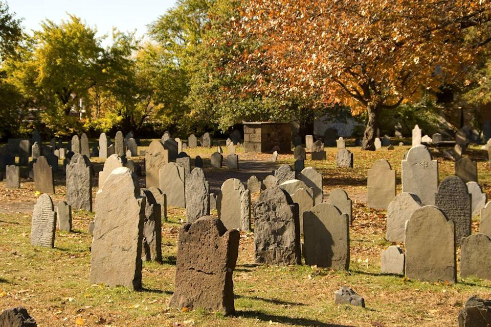 """<p>Home of the 1692 witch trials, Salem is steeped with dark history, and over the course of 90 minutes, you'll hear tales of witchcraft, voodoo, vampires, and ghosts from a paranormal investigator as you traverse through the city. </p><p><a class=""""link rapid-noclick-resp"""" href=""""https://go.redirectingat.com?id=74968X1596630&url=https%3A%2F%2Fwww.tripadvisor.com%2FAttractionProductReview-g60954-d11478896-Salem_Voodoo_Vampires_and_Ghosts_Guided_Walking_Tour-Salem_Massachusetts.html&sref=https%3A%2F%2Fwww.redbookmag.com%2Flife%2Fg37623207%2Fghost-tours-near-me%2F"""" rel=""""nofollow noopener"""" target=""""_blank"""" data-ylk=""""slk:LEARN MORE"""">LEARN MORE</a></p>"""