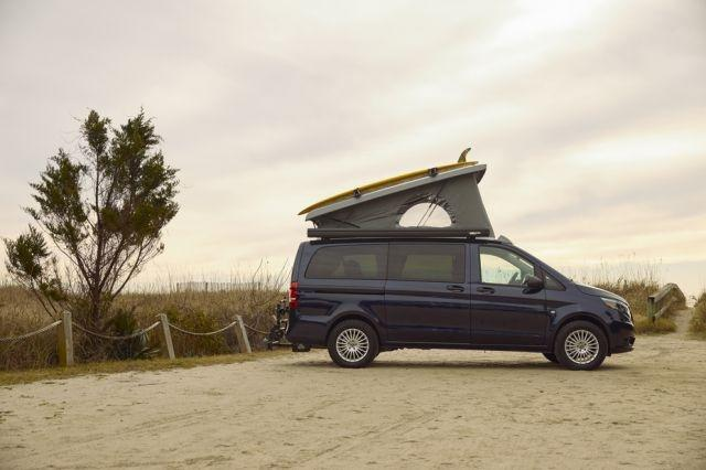 Mercedes-Benz announces the Weekender, a camper van designed for 21st-century glamping