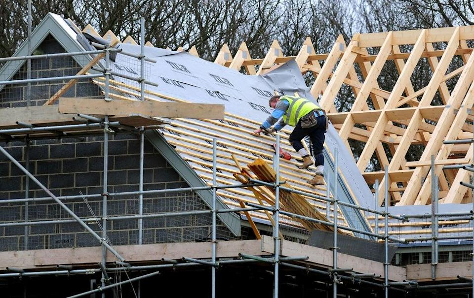 The IHS Markit/CIPS UK Construction Purchasing Managers' Index gave the sector a score of 55.2 last month (PA) (PA Wire)