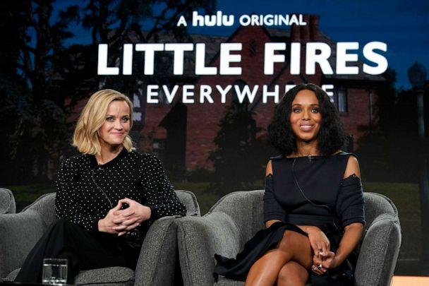 PHOTO: Reese Witherspoon, left, and Kerry Washington speak onstage during the Hulu Panel at Winter TCA 2020 at The Langham Huntington, in Pasadena, Calif., on Jan. 17, 2020. (Erik Voake/Getty Images for Hulu)