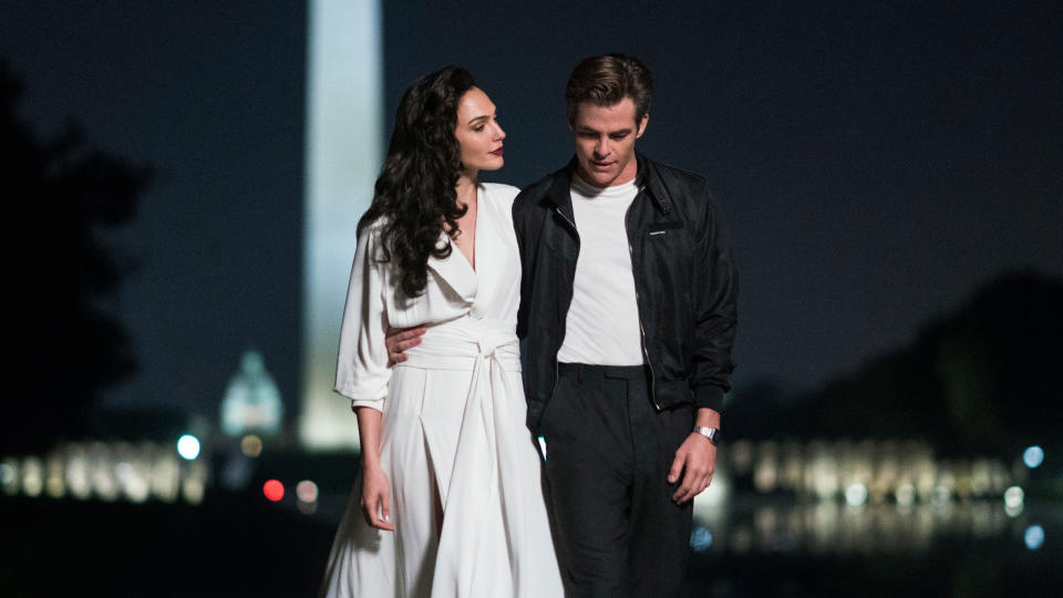 Gal Gadot and Chris Pine return in 'Wonder Woman 1984'. (Credit: Clay Enos/Warner Bros)
