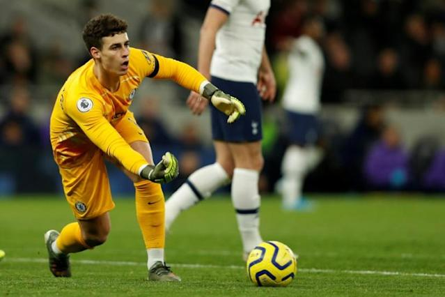 Chelsea's Kepa Arrizabalaga has been dropped in recent weeks despite a world record price tag for a goalkeeper (AFP Photo/Adrian DENNIS)