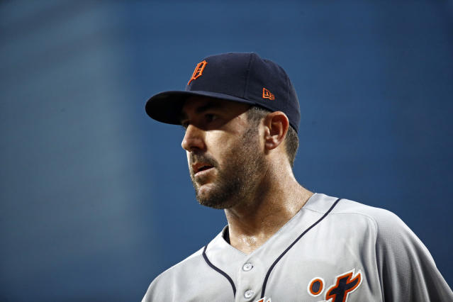 Should the Tigers agree now is the right time to deal him, Justin Verlander would be open-minded. (AP Photo/Patrick Semansky)