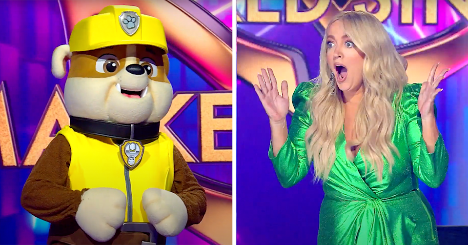 Rubble on The Masked Singer.