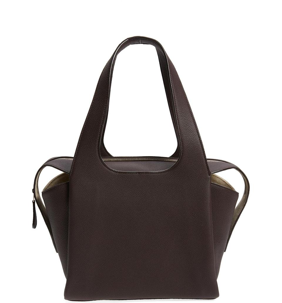 <p>We have an obsession with all things The Row, and this chocolate <span>The Row TR1 Leather Shoulder Bag</span> ($2,650) is dreamy. It's the perfect bag for every outfit, and we are fully in love.</p>
