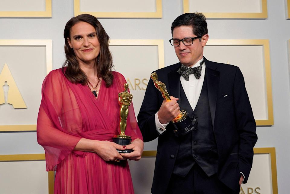 Alice Doyard and Anthony Giacchino won Best Documentary (Short Subject) for 'Colette'AFP/Getty