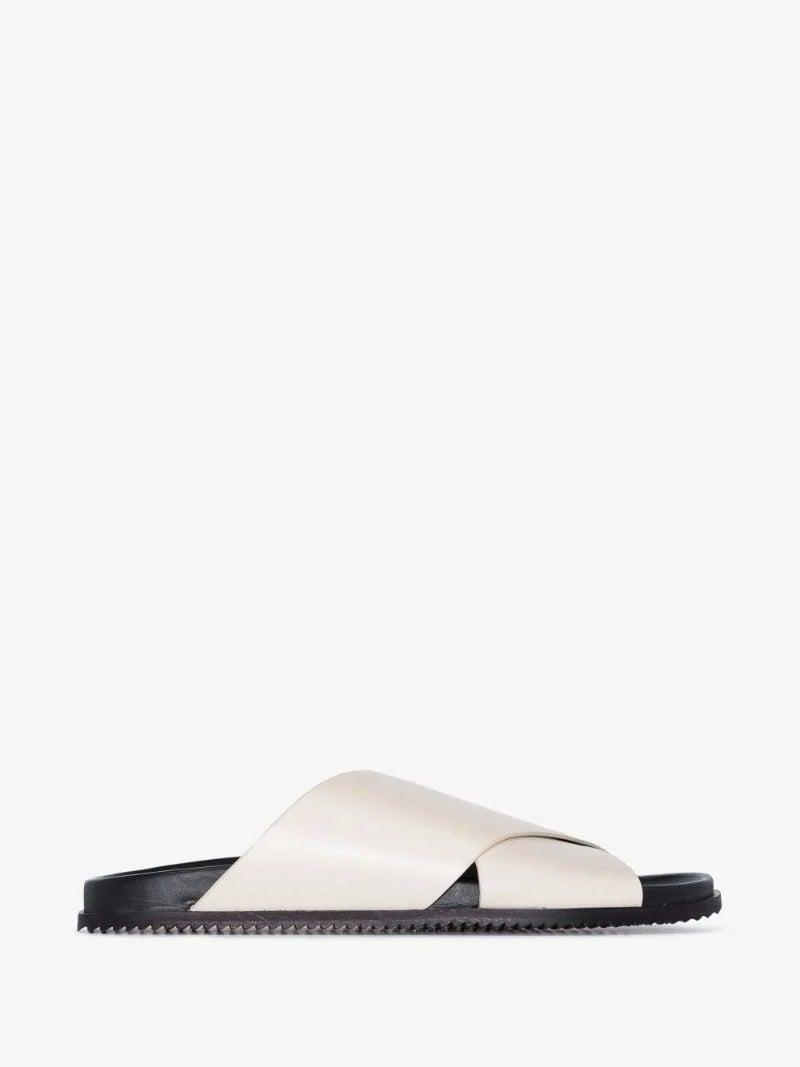 """<br><br><strong>St. Agni</strong> White Arne Leather Sandals, $, available at <a href=""""https://www.brownsfashion.com/uk/shopping/st-agni-white-arne-leather-sandals-16055341"""" rel=""""nofollow noopener"""" target=""""_blank"""" data-ylk=""""slk:Browns"""" class=""""link rapid-noclick-resp"""">Browns</a>"""