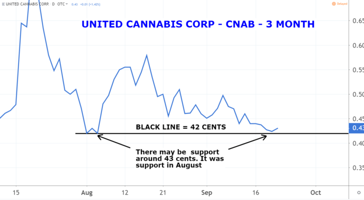 Marijuana Penny Stocks: United Cannabis Corporation (CNAB)
