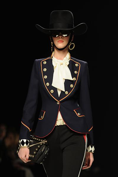 Cowboy hats at the Moschino Fall 2012 show