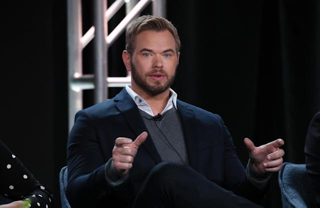 "Kellan Lutz of ""FBI: The Most Wanted"" speaks during the CBS segment of the 2020 Winter TCA Press Tour (David Livingston/Getty Images)"