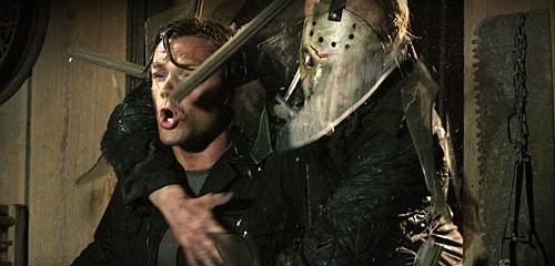 'Friday the 13th': Jason (Derek Mears) crashes through a window and grabs Clay (Jared Padalecki).