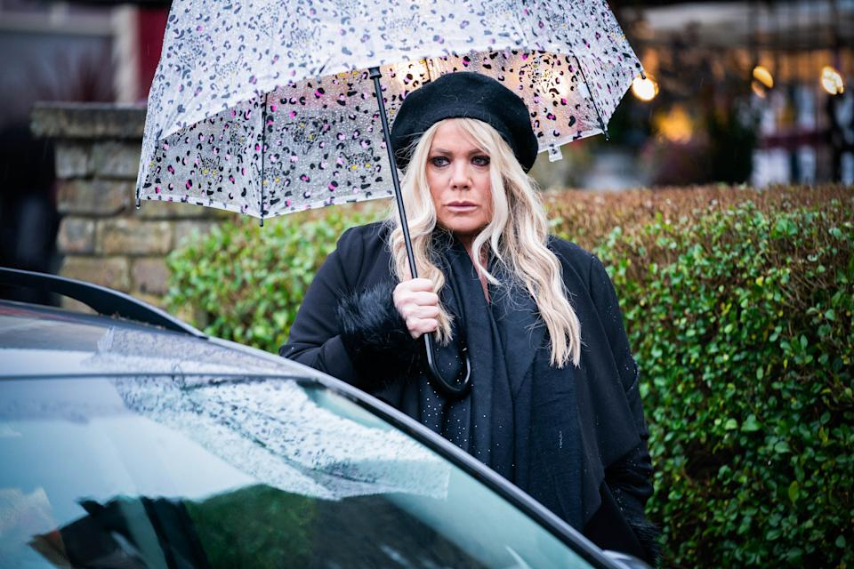 WARNING: Embargoed for publication until 00:00:01 on 09/03/2021 - Programme Name: EastEnders - January-March 2021 - TX: 16/03/2021 - Episode: EastEnders - January-March 2021- 6238 (No. 6238) - Picture Shows: ***EMBARGOED TILL TUESDAY 9TH MARCH 2021*** Sharon Watts (LETITIA DEAN) - (C) BBC - Photographer: Kieron McCarron/Jack Barnes