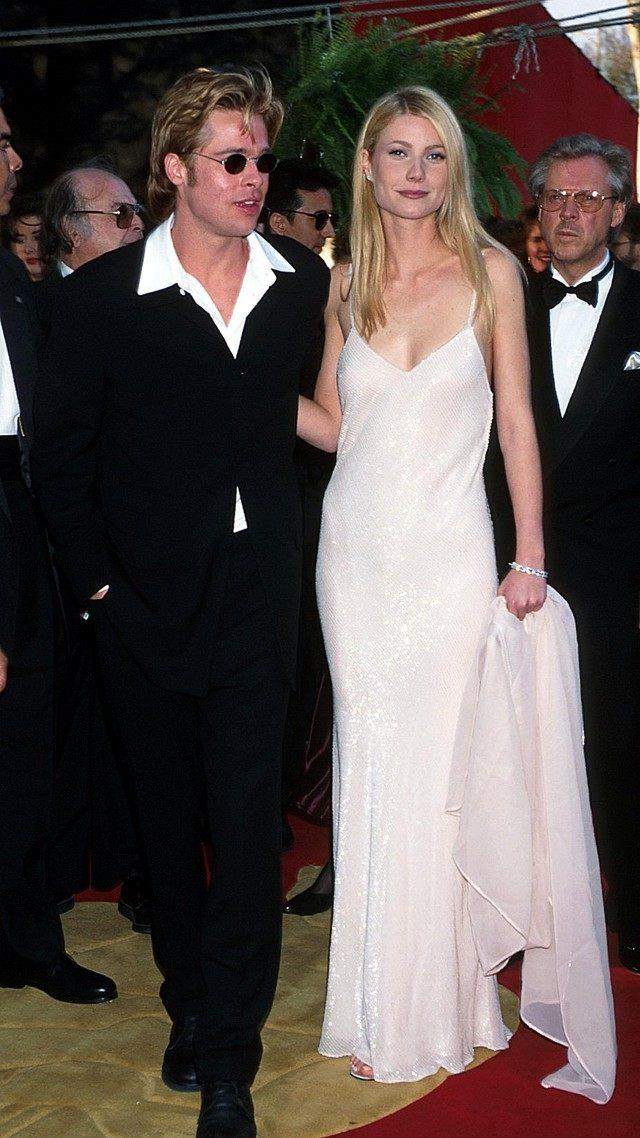 Gwyneth Paltrow and Brad Pitt at 1996 Oscars