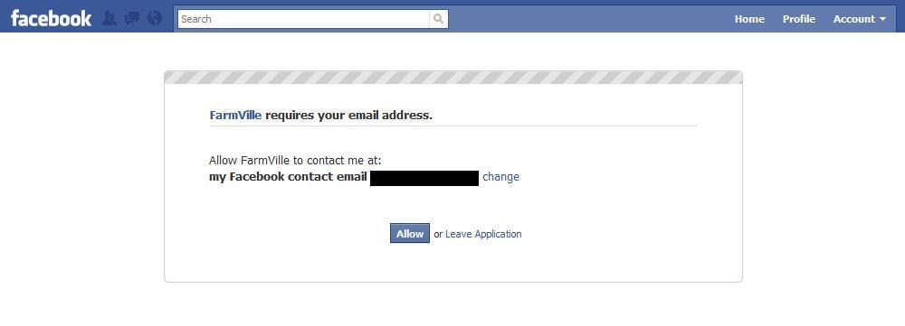 farmville requires email address