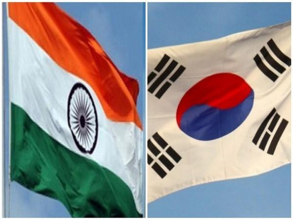 India and South Korean flags