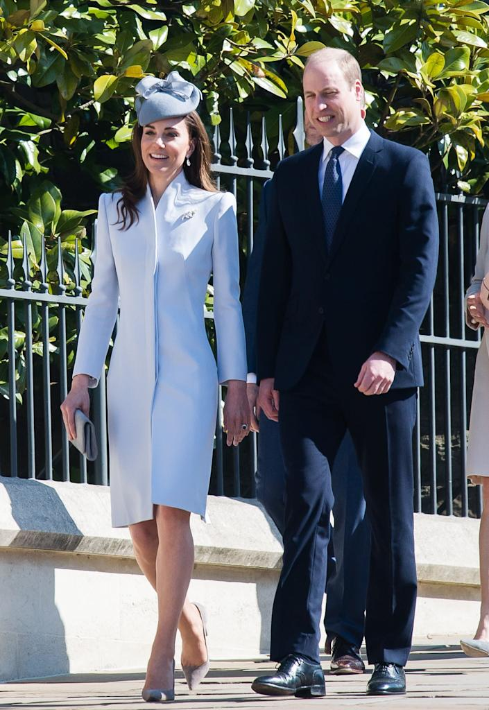 Kate and William attend Easter Sunday service at St. George's Chapel in Windsor, England, on April 21.