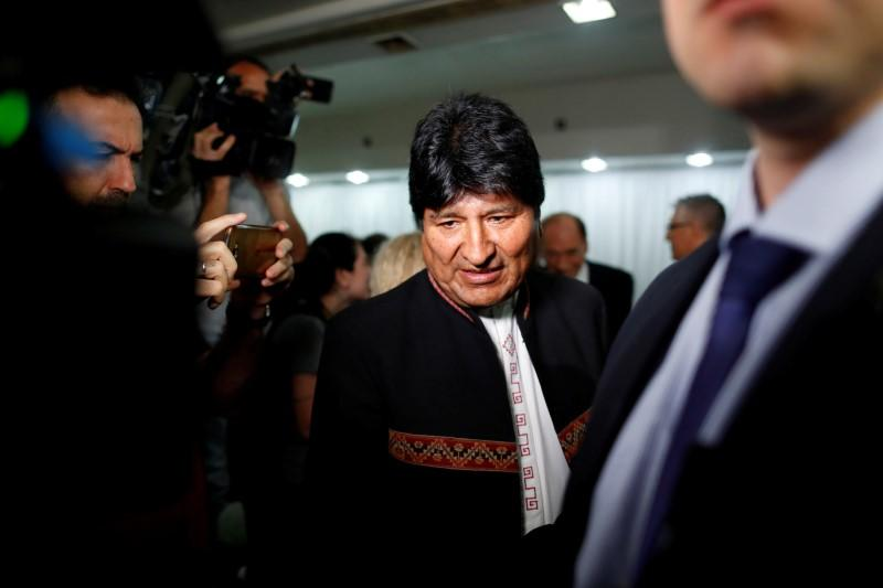 FILE PHOTO: Former Bolivian President Evo Morales attends a news conference, in Buenos Aires