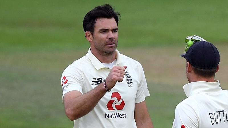James Anderson closes in on 600 Test wickets before bad light frustrates England