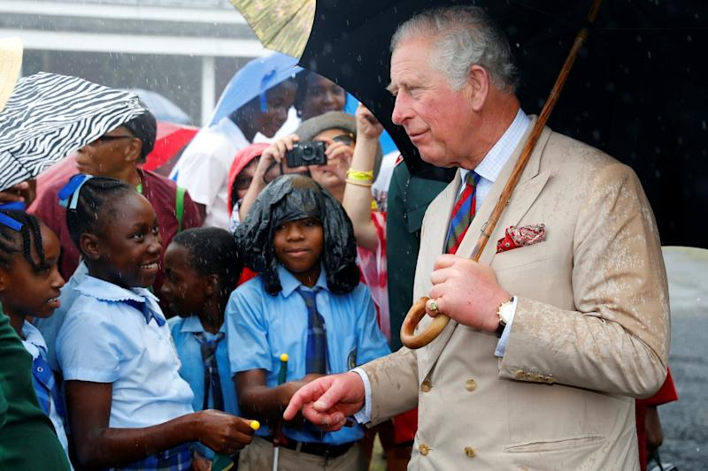 Prince Charles greets Children in Brimstone Hill Fort, St Kitts (Getty Images)