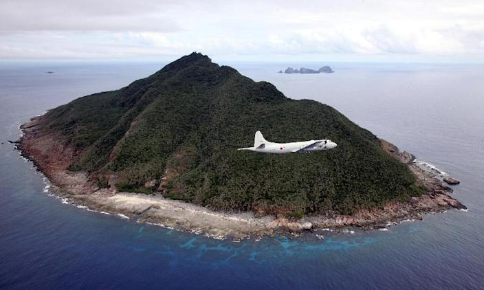 Japan and China have long been at odds over the sovereignty of uninhabited islands in the East China Sea, which Japan administers and calls the Senkakus, but which China claims as the Diaoyus (AFP Photo/Japan Pool)