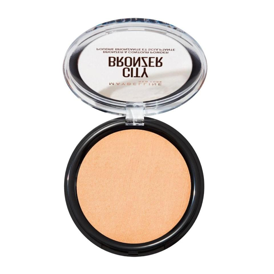 """If you're fair and like to use a bronzer to add depth, shade Light 001 is the answer to your prayers. There's not even a hint of orange; it just gives your skin a nice glow and definition. The powder is really buildable, which is ideal for pale skin, and it has a velvet matte finish thanks to the inclusion of whipped cocoa butter. $10, Maybelline. <a href=""""https://shop-links.co/1713089466869787612"""" rel=""""nofollow noopener"""" target=""""_blank"""" data-ylk=""""slk:Get it now!"""" class=""""link rapid-noclick-resp"""">Get it now!</a>"""