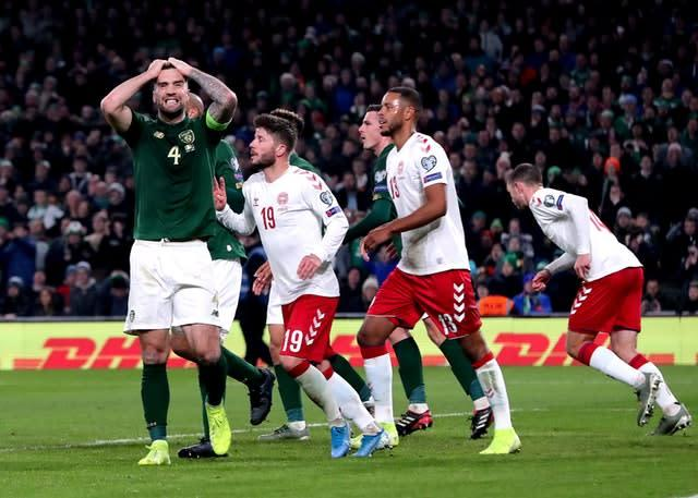 Shane Duffy rues a missed chance (Niall Carson/PA)