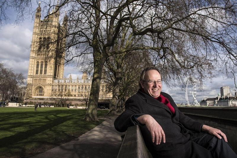 Michael Crick, English broadcaster, journalist, and author pictured close to the Houses of Parliament: Daniel Hambury/Stella Pictures