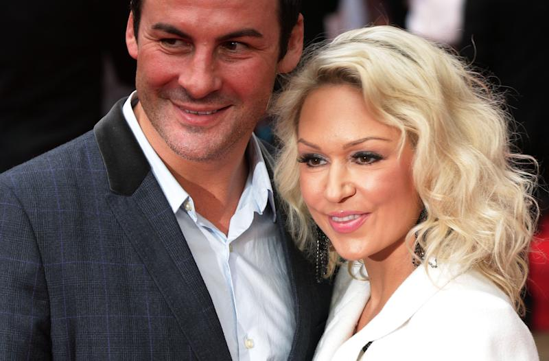 Joe Calzaghe and Kristina Rihanoff arriving at the Dictator UK film premiere held at the Royal Festival Hall, London. (Photo by Yui Mok/PA Images via Getty Images)