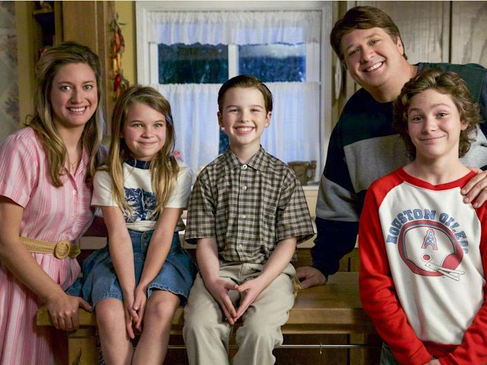 'Young Sheldon' is an instant success in the US with Zoe Perry as Mary Cooper, Raegan Revord as Missy, Iain Armitage as Sheldon Cooper, Lance Barber as George Sr and Montana Jordan as Georgie