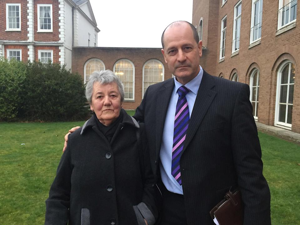 Barry Prings' parents, Irene and Shaughan Pring (PA)