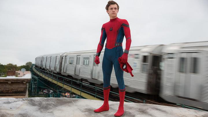 spider man homecoming review Tom Holland train