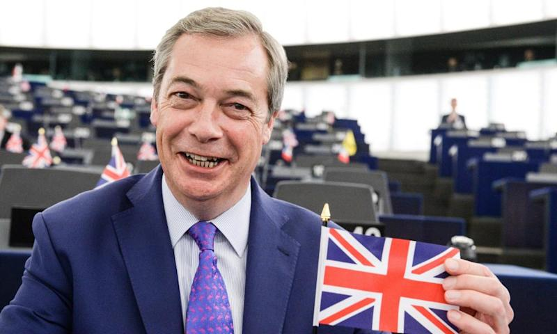 Nigel Farage at the European parliament in Strasbourg