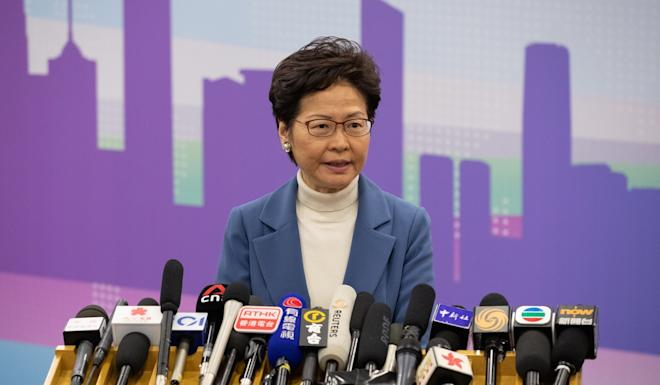 Carrie Lam's efforts to push through an extradition bill sparked months of anti-government protests in Hong Kong. Photo: EPA-EFE